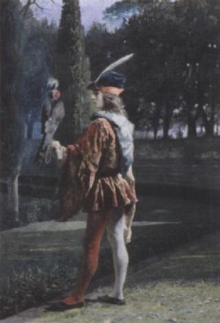 the falconer by josé tapiro y baro