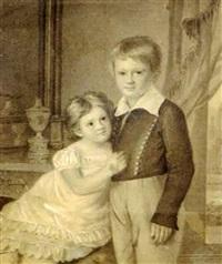 jeunes enfants dans un intérieur by vasili andreevich tropinin