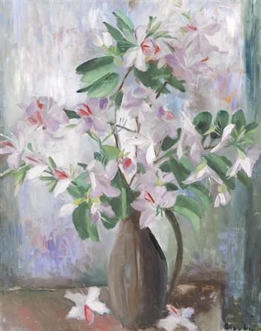 pink bauhinea by margaret hannah olley
