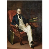 portrait of a major general john liddell of the bombay army, cbe (1804-1873) by george duncan beechey