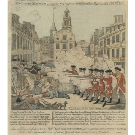 the bloody massacre pl14 brigham by paul revere