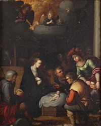 adoration des bergers by ambrosius francken the elder