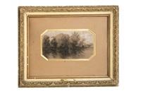 paysage lacustre by théodore rousseau