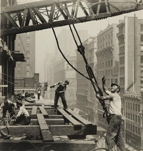 team work empire state building new york city by lewis wickes hine