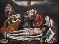 beweinung christi mit hl. maria, hl. johannes und den drei marien by anonymous-italo-flemish (16)