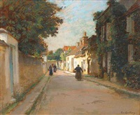 rue de village, animée by edouard gelay