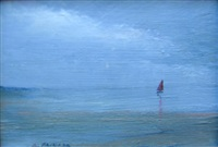 untitled (sailboat on bay) by anne packard