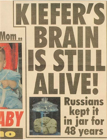 kiefers brain is still alive by albert oehlen