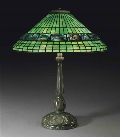 turtleback tile table lamp by tiffany studios