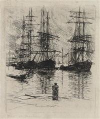 three ships, venice by otto henry bacher