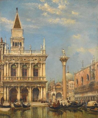 the piazzetta of st mark venice by edward william cooke