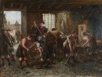 on the road to derby, sharpening swords by george ogilvy reid