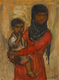 mother and child (fatima) by lorna selim