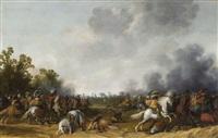 combat de cavalerie by palamedes palamedesz the elder