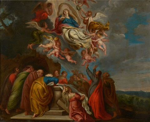 lascension de la vierge by theodor van thulden