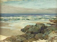 a deserted rocky beach by henry young alison