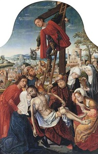 the deposition of christ by master of frankfurt