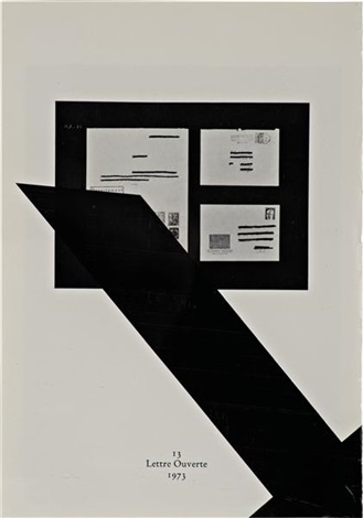 untitled 13 lettre ouverte 1973 by wade guyton