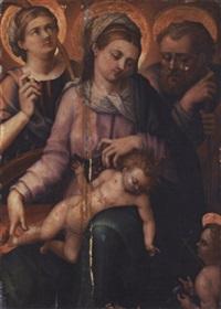 la sainte famille avec sainte catherine by innocenzo di pietro (da imola) francucci
