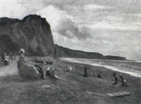 la plage de dieppe by m. grosse