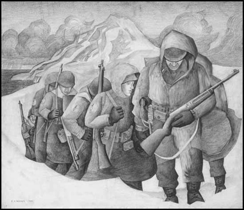 patrol on kiska in 1943 by edward john hughes