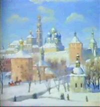monastere de st.serge de la ste.trinite by sergei yakovlevich dunchev