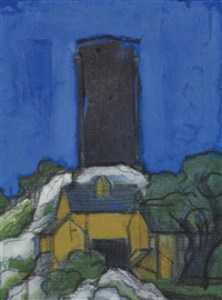 the summit, marblehead, massachusetts by oscar florianus bluemner