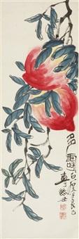 多寿 轴 纸本 by qi liangsi
