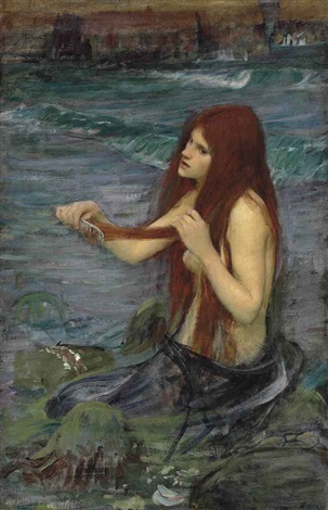 sketch for a mermaid by john william waterhouse