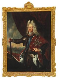 portrait of king frederik iv (1671-1730), king of denmark and norway by jacques (jacob) d' agar