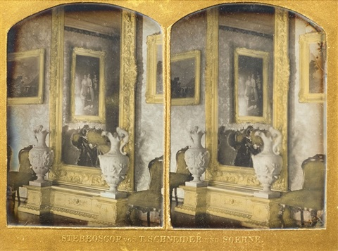 spiegel und konsole eines salons mirror and console of a parlor by william schneider