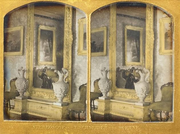 spiegel und konsole eines salons mirror and console of a parlor by william schneider