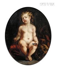 vanitas still life with boy by jürgen ovens