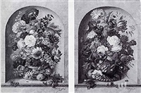 floral still life by friedrich (frederick) jüngling
