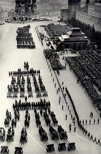 artillery parade, red square, moscow by max vladimirovitch alpert