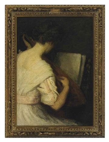 the lute player by julian alden weir