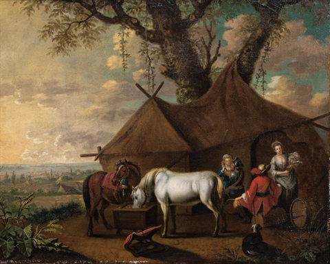 at the sutler by pieter van bloemen