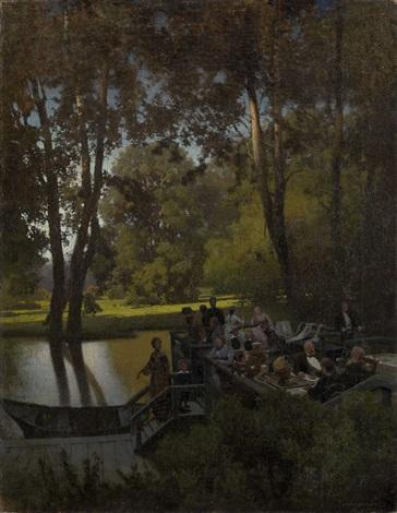 luncheon in the park by petr alexanderovich sukhodolsky
