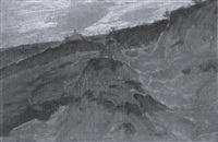 sandkuhle in einer hügelkette by carl arp