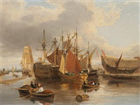 ship building at greenwich by george vincent