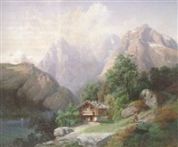 berglandschaft in der schweiz by george jabin