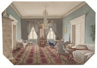 blauer salon by eduard gaertner