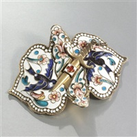buckle mounted as a brooch by nikolai zverev