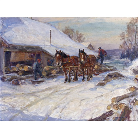 loading the sleigh by manly edward macdonald