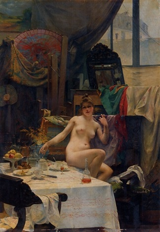 in the studio by paul françois quinsac