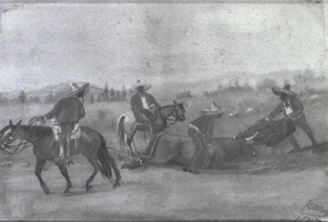 coleando al toro by ernesto icaza
