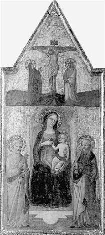 la vierge à lenfant entre saint paul et saint pierre by agnolo di taddeo gaddi