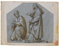 figures of two apostles (pair) by pomponio amalteo