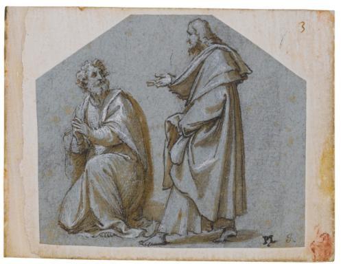 figures of two apostles pair by pomponio amalteo