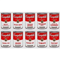 campbell's soup can portfolio (set of 10) by sunday b. morning